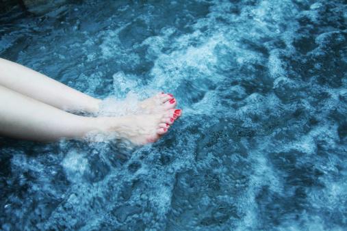remous dans l'eau